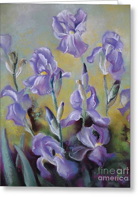 Maria's Irises Greeting Card