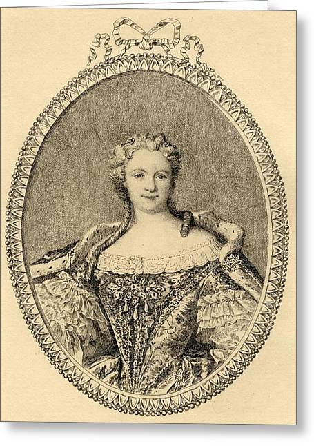 Marie-catherine -sophie-felicite Greeting Card by Vintage Design Pics