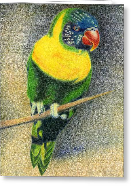 Marigold Lorikeet Greeting Card