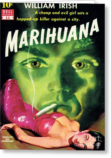 Marihuana Greeting Card