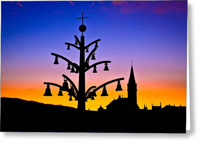 Marija Bistrica Marian Shrine Architecture Silhouette  Greeting Card