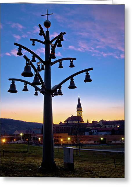 Marija Bistrica Shrine Church View Greeting Card