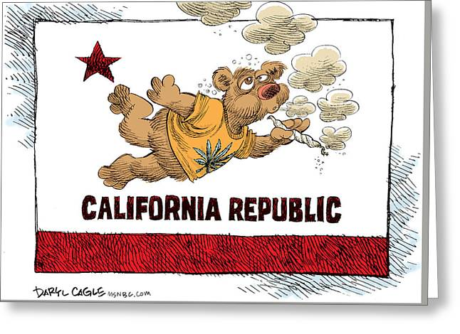 Marijuana Referendum In California Greeting Card