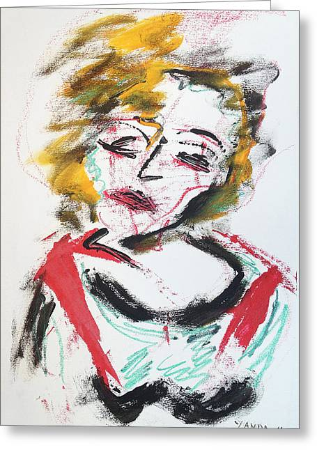 Marilyn Abstract Greeting Card