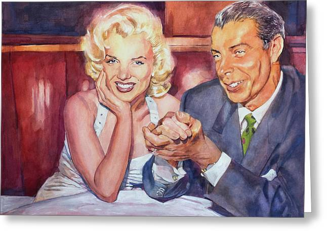 Marilyn And Joe 1952  Greeting Card