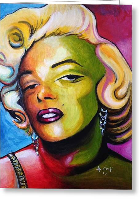 Marilyn Greeting Card by Barney  Ortiz