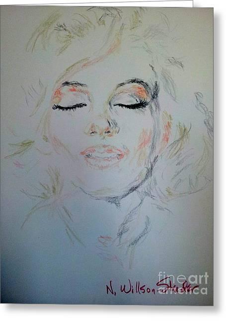 Marilyn, Beautiful Greeting Card by N Willson-Strader