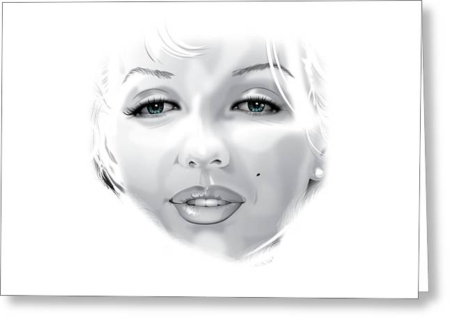Marilyn Greeting Card by Brian Gibbs