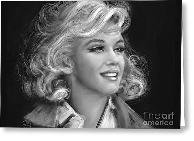 Marilyn Bw Greeting Card by Angie Braun