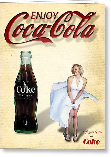 Marilyn Coca Cola Girl 3 Greeting Card