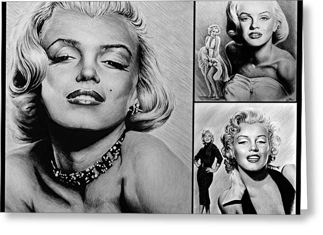 Marilyn Collage 2 Greeting Card by Andrew Read
