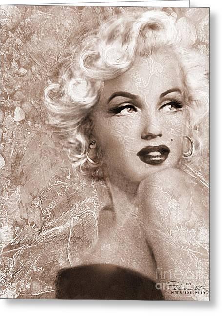 Marilyn Danella Ice Sepia Greeting Card