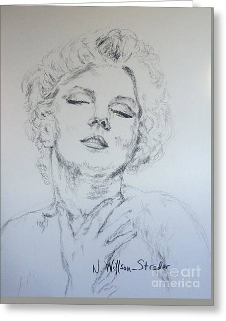 Marilyn, Feelings Greeting Card by N Willson-Strader