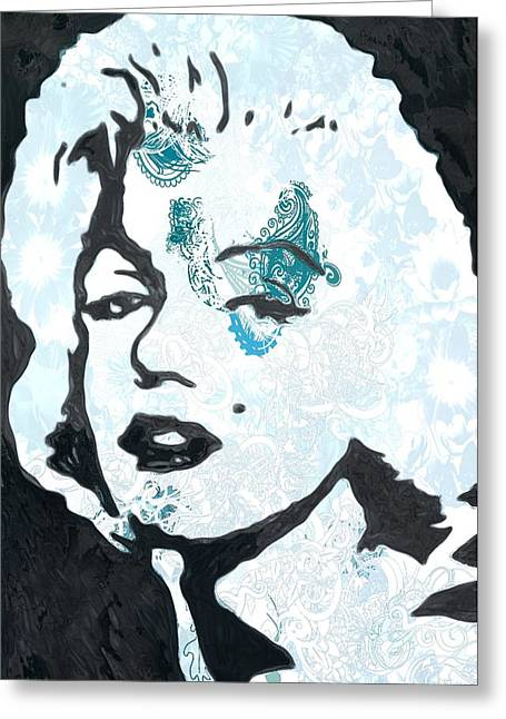 Marilyn In Ink Greeting Card
