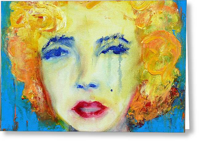 Marilyn Greeting Card by Jacquie Gouveia