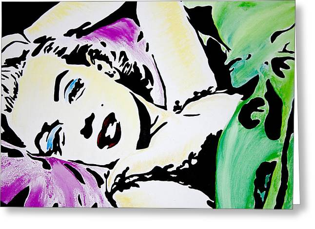 Marilyn Monroe Greeting Card by Brittany Prichard
