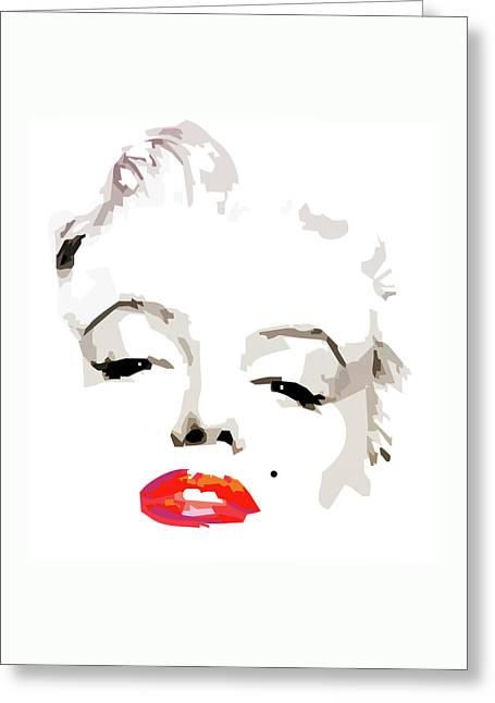 Marilyn Monroe Minimalist Greeting Card by Quim Abella