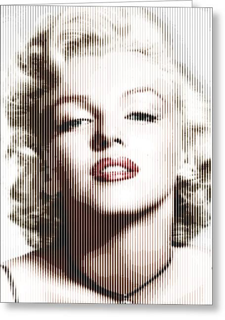 Marilyn Monroe - Colored Verticals Greeting Card
