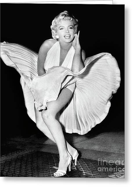 Marilyn Monroe Greeting Card by Doc Braham