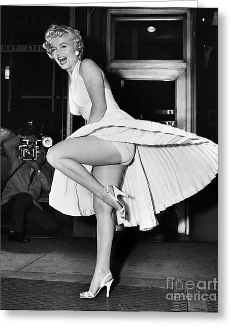 Seven Year Itch Greeting Cards - Marilyn Monroe Greeting Card by Granger