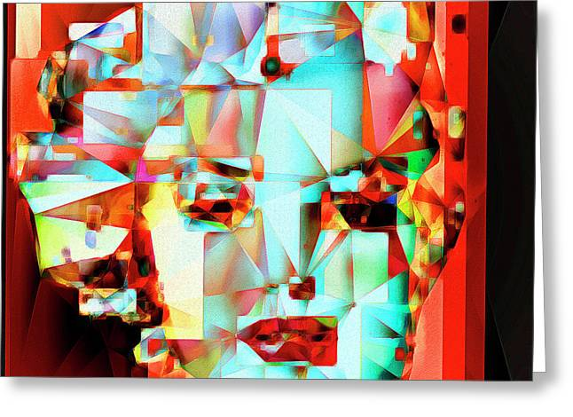 Greeting Card featuring the photograph Marilyn Monroe In Abstract Cubism 20170326 by Wingsdomain Art and Photography