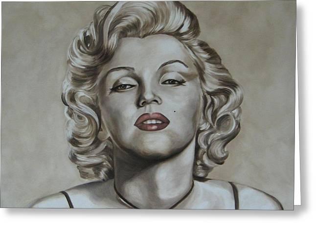 Marilyn Monroe Greeting Card by Jindra Noewi