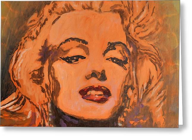 Marilyn Monroe Greeting Card by Kip Decker