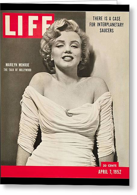 Marilyn Monroe - Life Magazine Cover 1952 Greeting Card