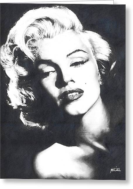 Marilyn Monroe Greeting Card by Maciel Cantelmo