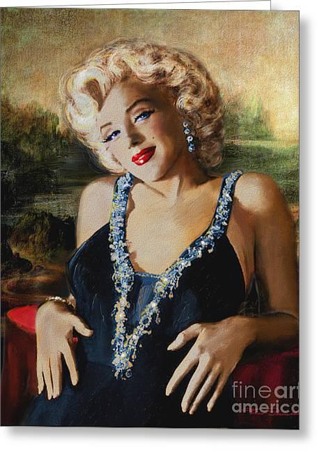Marilyn Monroe  Mona Lisa  Greeting Card