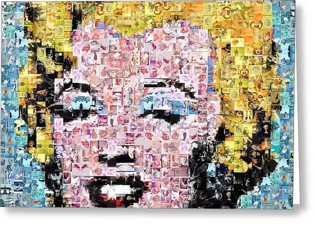Marilyn Monroe Mosaic Greeting Card by Baltzgar