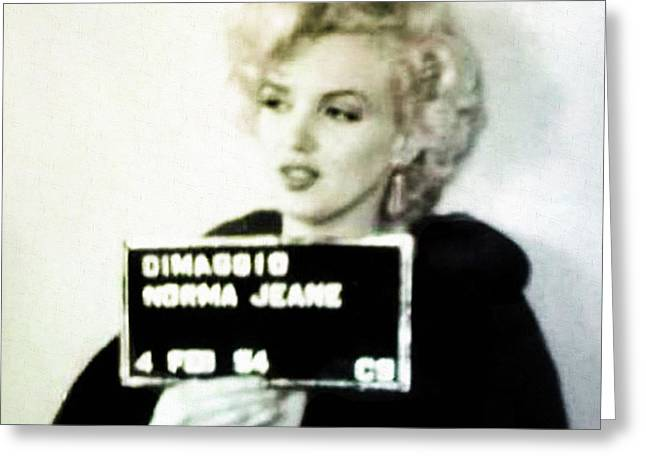 Marilyn Monroe Mugshot Greeting Card