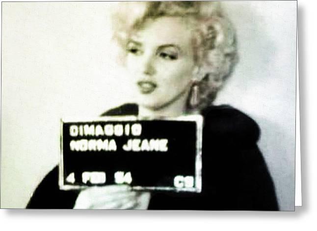 Marilyn Monroe Mugshot Greeting Card