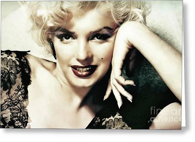 Marilyn Monroe, Norma Jeane Mortensen Greeting Card by Thomas Pollart