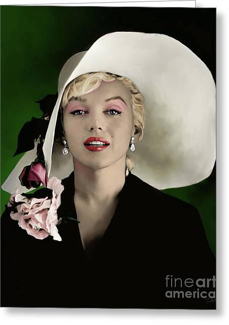 Marilyn Monroe Greeting Card by Paul Tagliamonte