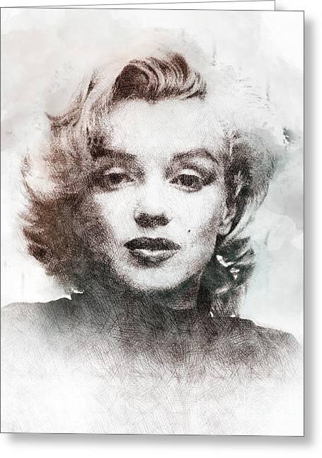 Marilyn Monroe Portrait 04 Greeting Card by Pablo Romero