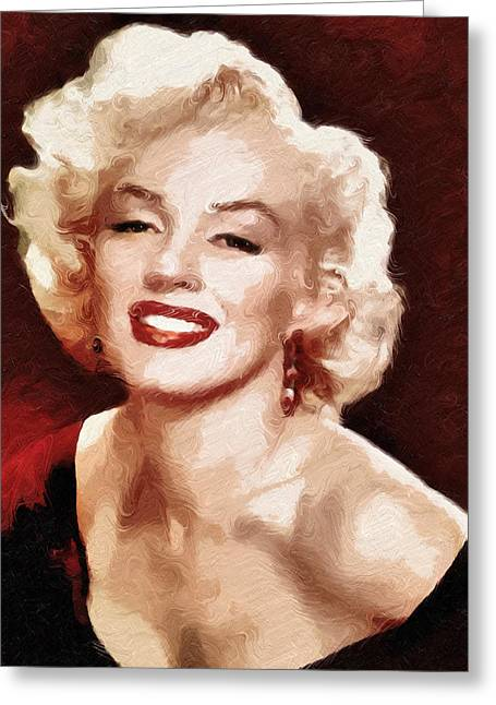 Marilyn Monroe Semi Abstract Greeting Card by Georgiana Romanovna