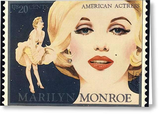 Marilyn Monroe Stamp Greeting Card