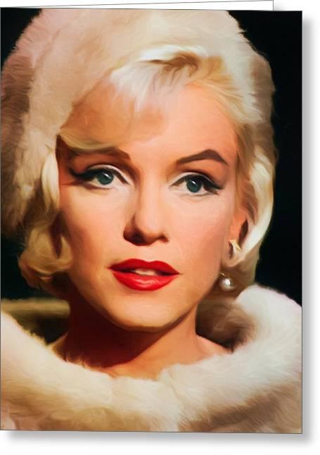 Marilyn Monroe Greeting Card by Vincent Monozlay