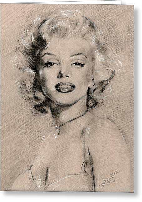 Marilyn Monroe Greeting Card by Ylli Haruni
