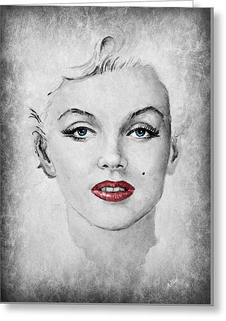 Marilyn Movie Star Edit Greeting Card by Andrew Read