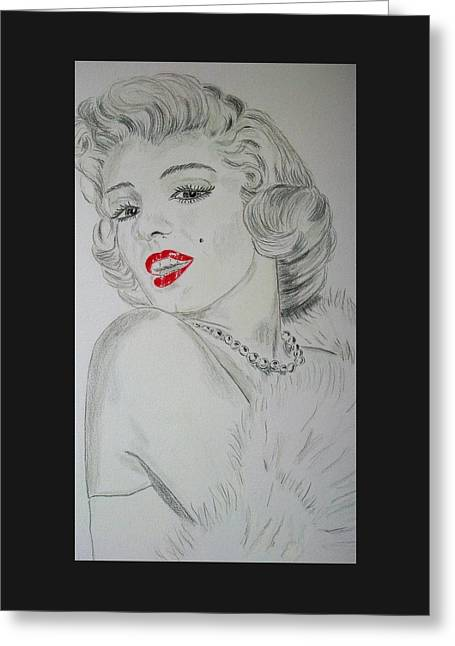 Marilyn Munroe Greeting Card
