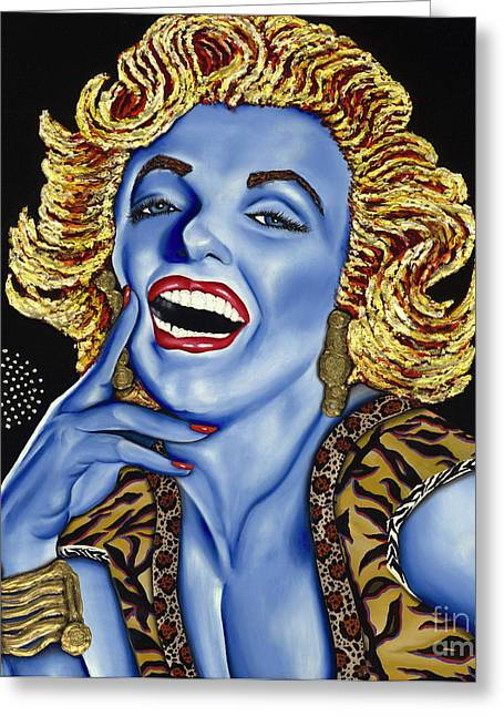 Marilyn Greeting Card by Nannette Harris