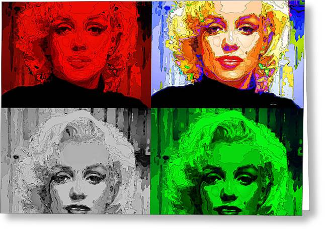 Marilyn Monroe - Quad. Pop Art Greeting Card
