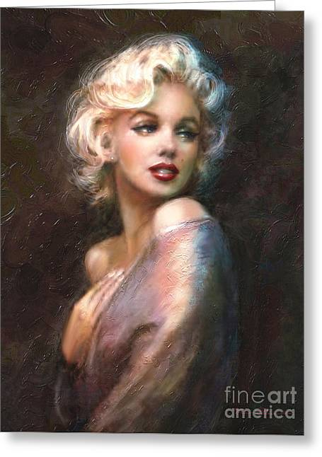 Marilyn Romantic Ww 1 Greeting Card by Theo Danella