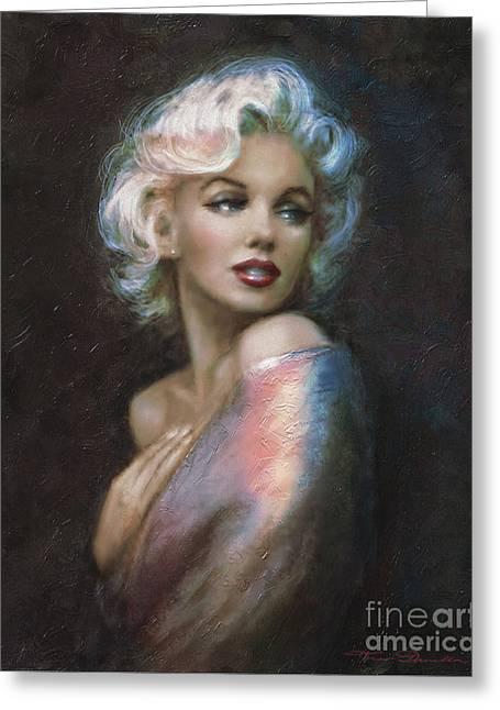 Marilyn Romantic Ww 4 Blue Greeting Card by Theo Danella