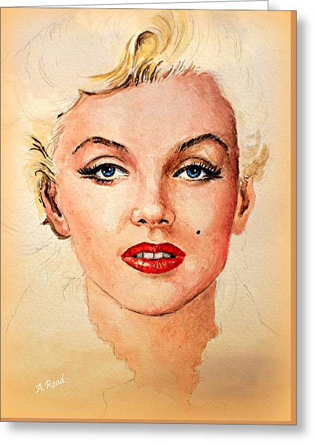 Marilyn Seductive Warm Edit Greeting Card