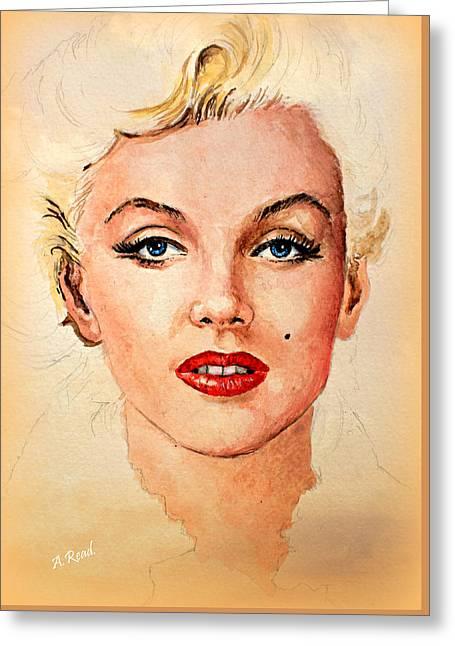 Marilyn Seductive Warm Edit Greeting Card