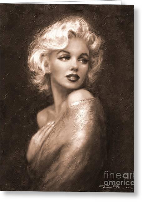 Marilyn Ww Sepia Greeting Card
