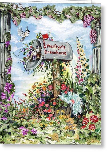 Marilyn's Greenhouse Greeting Card